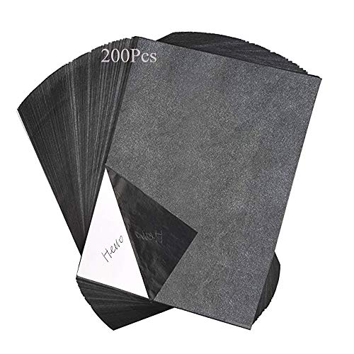 Papel de Transfer, Papel de Copia de Carbono, Copia A4 Papel Carbono Transferencia, para grabado, papel de transferencia negro para trazado en madera