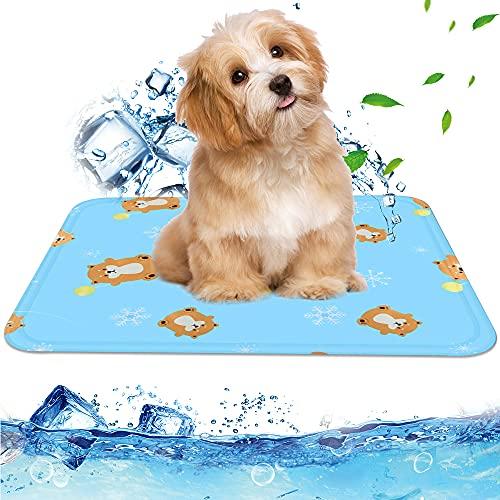 Haustier Kühlmatte,60 x 45 cm Ungiftiges Gel-Selbstkühlungs Matte für Hunde und Katzen,Hund Selbst Kühlmatte,Kühlmatte Katze Selbstkühlend,Pet Cooling Mat für Mittlere und Große Hunde Katzen