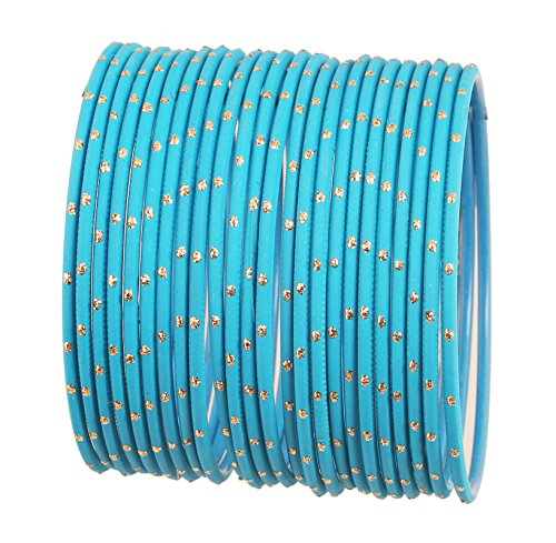 Touchstone Armreif Kollektion exklusive Glasur türkisblau Designerschmuck spezielle Armreifen Armbänder für Damen 2.62 Set 2 groß Türkisblau