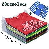 Nifogo Doblador de Ropa, Organizador de Armarios Ropa, Camiseta Carpeta, Organizador Plegable Apilamiento Camisas Camiseta Folder,Tamaño Normal