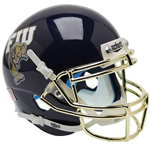 Schutt NCAA Florida International University Panthers Mini Authentic XP Football Helmet, Navy/Chrome Alt. 2