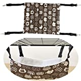 JISTL Cat Hammock Comfortable Bed Hanging The Pet Cage,Soft Warm Pet Bed Sleeping for Kitten,Ferret,Puppy,Rat,Rabbit or Other Small Animals (M 47X37CM, Brown)