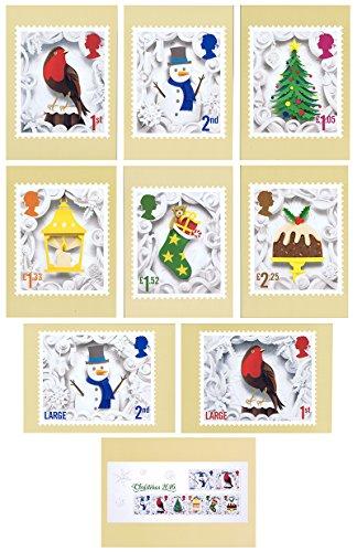2016Navidad PHQ tarjetas Nº 423–menta (Set de 9de correo real postales)
