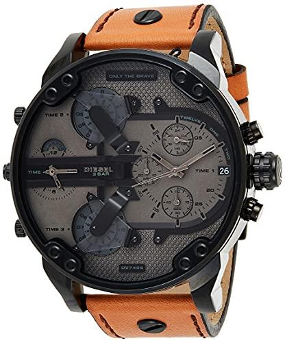 Diesel Reloj Cronógrafo para Hombre de Cuarzo con Correa en Cuero DZ7406