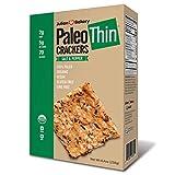 Julian Bakery Paleo Thin Crackers | Salt & Pepper | USDA Organic | Gluten-Free | Grain-Free | GMO Free | Low Carb | 1 Pack