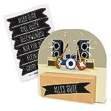 itenga Geldgeschenk oder Gutschein Verpackung Geschenkaufsteller Motiv/Anlass Konzert Musik Festival mit Stickerbogen aus Karton 12x11,5cm