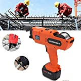 Rebar Tier Tying Machine 6-60mm Automatic Rebar Tier 13200 mAh Automatic Steel Bar Rod Tying Binding Tool Rechargeable Handheld Rebar Tier Tying Machine With 5 Tying Wires (8-34mm Tying Range)