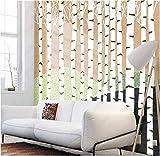 Fotomurales Papel pintado tejido no tejido Bosque de abedules Murales moderna Arte de la pared Decoración de Pared decorativos 450x300 cm