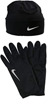 Unisex Small S Reflector Running Gloves and Beanie Black Not Applicable