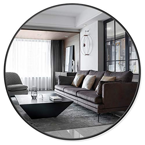 PexFix 36'' Wall Round Mirror, Wall-Mounted Mirror Decorative Mirror Aluminum Alloy Frame, -