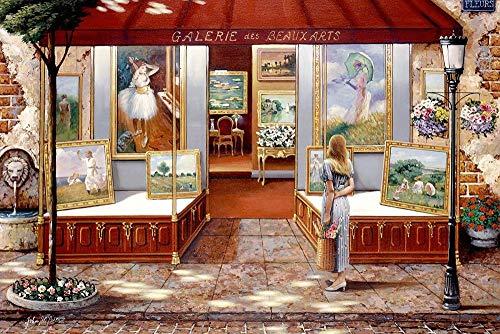 AFHK Rompecabezas 1000 Piezas de Rompecabezas de Madera Accesorios de Rompecabezas Rompecabezas y Puzzles DIY Rompecabezas de la galería de Arte