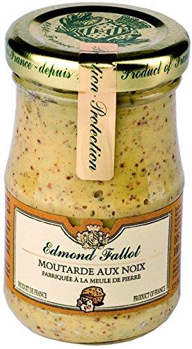 Edmond Fallot - Senf mit Walnuss (Moutarde aux noix) im Glas, 105 g