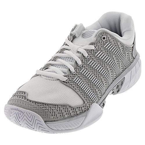 K-Swiss Women's Hypercourt Express Tennis Shoe (White/Silver, 10)