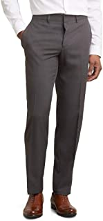 Kenneth Cole REACTION Men's Techni-Cole Mini Check Modern Fit Flat Front Dress Pant