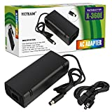 YCCTEAM Xbox 360 E Power Supply, Power Supply Cord AC Adapter Replacement Charger for Xbox 360 E, 100-240V Auto Voltage, Black