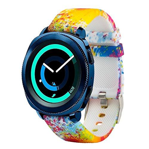 Fit-power – Smartwatch-Ersatzarmband, 20 mm, für Samsung Gear Sport / Samsung Gear S2 Classic / Huawei Watch 2 Watch / Garmin Vivoactive 3 / Garmin Vivomove HR, Design005