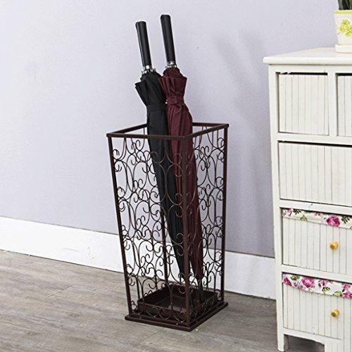 Salon de parapluie d'art de fer de style européen Accueil Hall de l'hôtel étagère créative étagère de rangement ( Couleur : Marron )