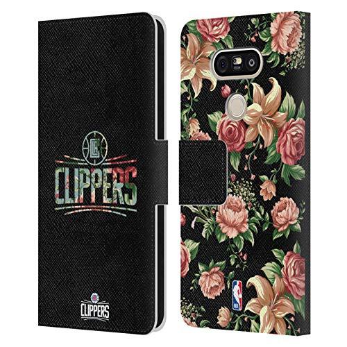 Head Case Designs Ufficiale NBA Floreale 2019/20 Los Angeles Clippers Cover in Pelle a Portafoglio Compatibile con LG G5 SE / G5 Lite