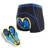 ARSUXEO Pantalones Acolchados de Ciclismo para Hombres Ropa Interior de Bicicleta MTB Transpirable Secado Rápido Pantalones Cortos Underwear Shorts Cycling Padded Shorts (Negro + Amarillo, L)