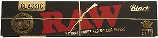 RAW Black Classic - Lote de 32 hojas ultrafinas por cuaderno, 10 unidades