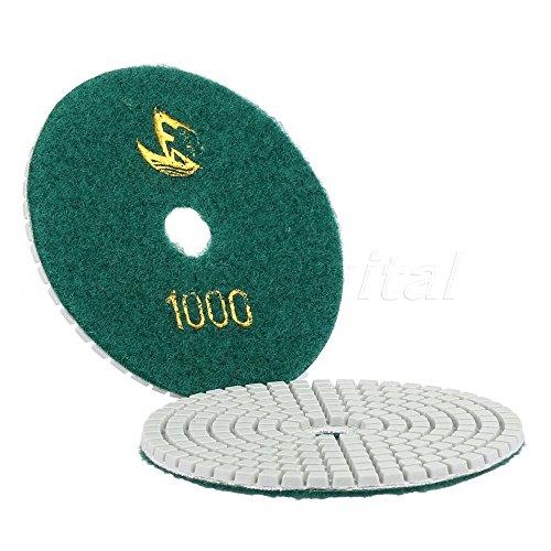 Acmebuy (TM) 1PC verde militare 100mm 10,2cm Professional Wet/Dry calcestruzzo granito marmo diamante lucidatura Pad, levigatrice a disco a grana # 1000
