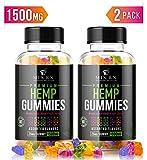 (120 Count) Sugar Free Hemp Gummies Extract (1500mg | 25mg/Serv)Hemp Oil Gummy Bears Vitamins Edibles Candy Supplements for Pain, Sleep Support, Anxiety Relief, Inflammation - Zero THC CBD Cannabidiol