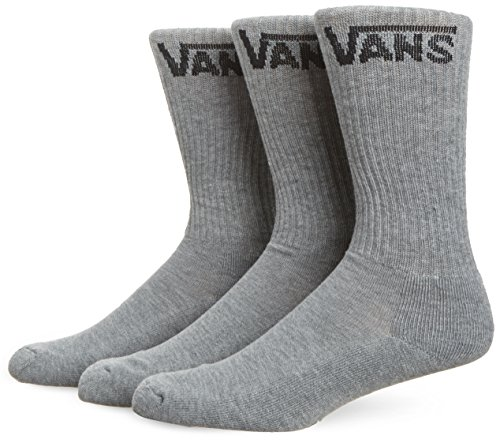 Vans Herren M Classic Crew Socken, 3er Pack, grau (Heather Grey), 38.5-42 EU