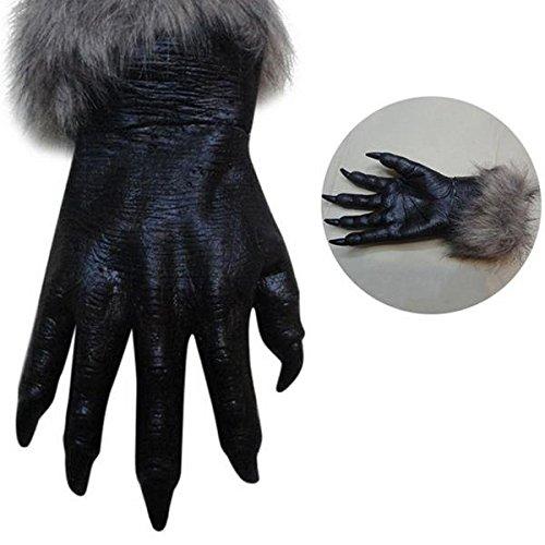 Bazaar klassieke halloween weerwolf wolf poten klauwen cosplay handschoenen griezelige horror duivel kostuum partij