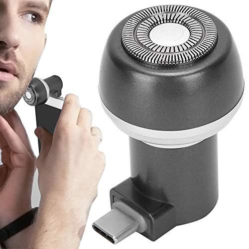 Afeitadora eléctrica recargable Afeitadora eléctrica Imán Adsorción Teléfono móvil Afeitadora de barba eléctrica Recortadora Portátil para hombres Herramienta de aseo de barba redonda(03)