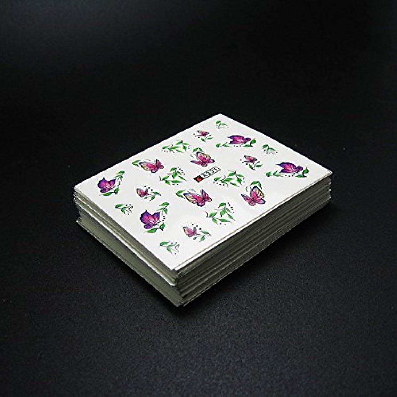 飾り羽保育園醸造所50枚ネイルシールの花混在デザイン水転送ネイルアートステッカーウォーターマークデカールDIYデコレーション美容爪用ツール