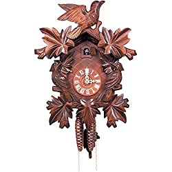 Alexander Taron 632-1 Engstler Weight-Driven Cuckoo Clock-Full Size-14 H x 9.5 W x 6 D, Brown