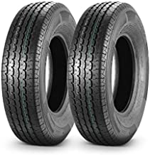 MaxAuto ST 225/75R15 Trailer Tires 10 Ply Load Range E Heavy Duty w/Featured Side Scuff Guard, Set of 2