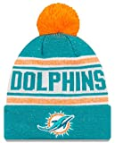 New Era Miami Dolphins NFL Toasty Cover Cuffed Knit Hat with Pom