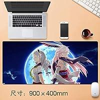 日本のアニメノンスリップHonkaiインパクト3マウスマット大型マウスパッドマウスパッド四角形ラバーアニメマウスパッドで縫製EDGE基地大型マウスパッドのためにラップトップコンピュータやPCのホームオフィス90 * 40センチメートル (サイズ: 3mm)
