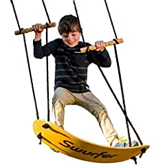 VERSATILE - Any child or adult can hop on and soar away; Adjustable handles for any height; Great for a little one looking for a calm swing and for big kids looking for excitement; Best for ages 6 and up INNOVATIVE DESIGN - Unlike swings made of flat...