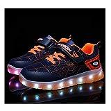 Tenis Luminosos,LED Zapatos Ligero Transpirable Bajo 7 Colores USB Carga Luminosas Flash Deporte De Zapatillas Con Luces Los Mejores Regalos Para Cumpleaños De Navidad, (26-37)34