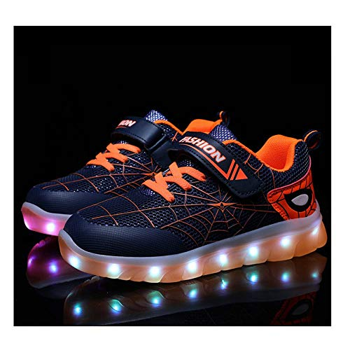 Tenis Luminosos,LED Zapatos Ligero Transpirable Bajo 7 Colores USB Carga Luminosas Flash...