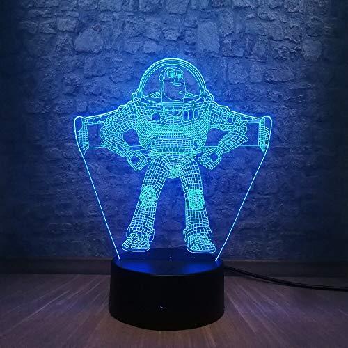 Vtech veilleuse mignon jouet S Buzz Light Year 3D LED lumière 7 changement de couleur RGB éclairage Teen chambre veilleuse décoration de la maison jour cadeau pour enfants jouet
