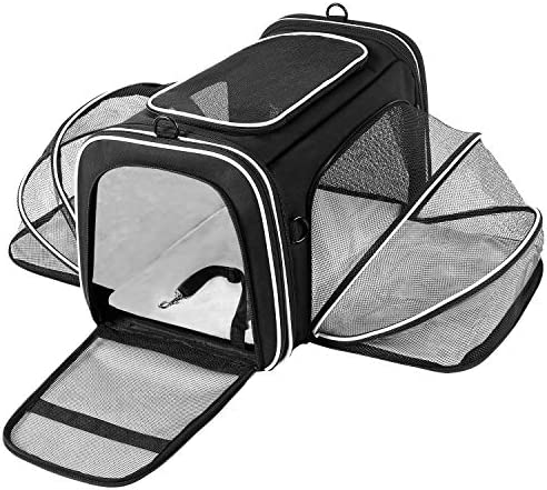 MASKEYON TSA Airline Approved Large Pet Travel Carrier 4 Sides Expandable with 2 Mesh Pockets product image