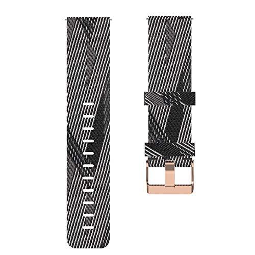 LOKEKE Correa de repuesto para Huawei Watch GT2 Pro, 22 mm, nailon de repuesto para Huawei Watch GT2 Pro/GT 2 (nailon negro + blanco)