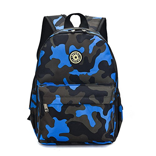 Estwell Kids Boys Girls Camouflage School Backpack Children Primary Schoolbag Book Bag Waterproof Nylon Rucksack Casual Daypack