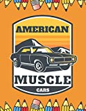 American Muscle Car: Relaxation For Kids For Adults Calendar Decor Art Black