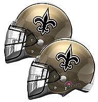 """Set of 2 New Orleans Saints Football Helmet 21"""" Foil Party Balloons"""