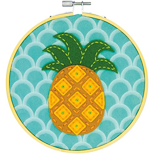 Dimensions Needlecrafts 72-75112 Pineapple, Learn a Craft Felt Applique Kit