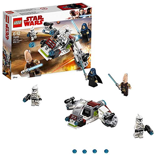 LEGO- Star Wars TMBattle Pack Jedi e Clone Troopers, Multicolore, 75206