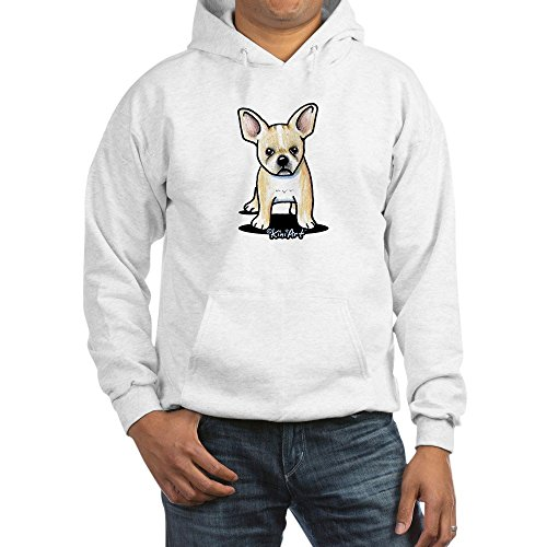CafePress B/W French Bulldog Pullover Hoodie, Classic & Comfortable Hooded Sweatshirt White