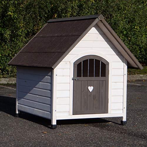 Animalhouseshop.de Hundehütte Private 4 Weiss grau