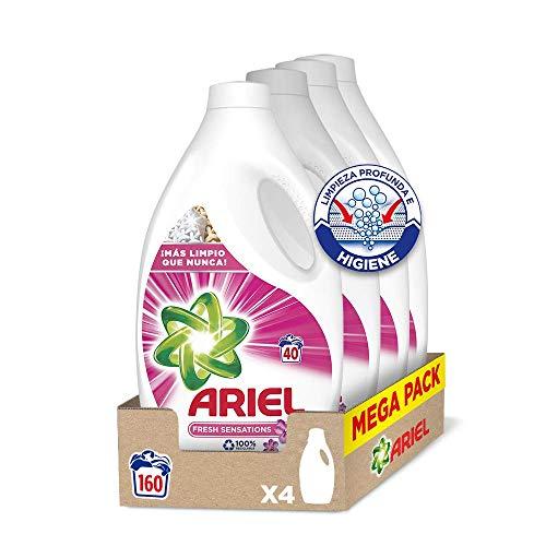 Ariel Sensaciones - Detergente líquido para la lavadora, deja un agradable aroma en tu ropa todo el día, 160 lavados (4 x 40)