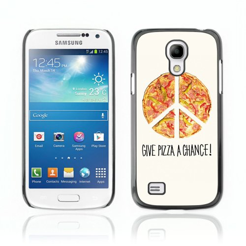 CelebrityCase Polycarbonate Hard Back Case Cover for Samsung Galaxy S4 MINI ( Peace Pizza Funny )