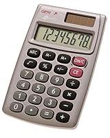 Handlicher Taschenrechner mit 8-stelligem Display Flaches und einfaches Design kombiniert mit Funktionalität, hochwertig verarbeitet Tastatur: leicht bedienbare und zu reinigende Plastiktastenicht bedienbare und zu reinigende Plastiktasten Stromverso...